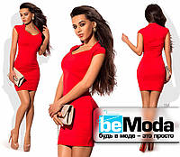 Коктейльное бандажное красное платье