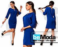 Платье с рукавом три четверти голубое