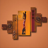 "Картина модульная ""Африканская статуэтка""  (1300х1820 мм) [7 модулей]"