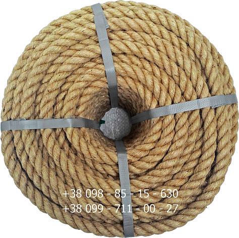 Веревка джутовая витая декоративная 20 мм 50 м, фото 2