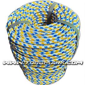 Шнур полипропиленовый фал плетеный Ø8(100метров) с сердечником