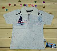 Футболка  для мальчика Кораблик  белая  на 2-4-6 лет, фото 1
