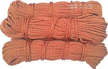Канат капроновый, ø 6 мм х 50 м. кордовый , трех прядный, из кордовых нитей