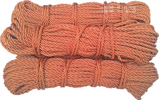 Канат капроновый, ø 6 мм х 50 м. кордовый , трех прядный, из кордовых нитей, фото 2