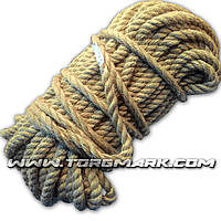 Канат джутовый веревка 12 мм х 50 м - пенька - Украина