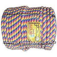 Веревка капроновая (Фал) 14 мм полипропиленовый - цветной -  100 м - Украина