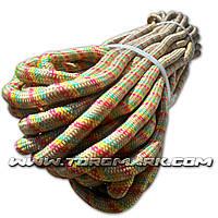 Веревка капроновая (Фал) 12 мм полипропиленовый - цветной -  100 м - Украина