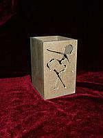Карандашница с логотипом (8 х 8 х 12 см), декор