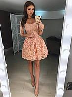 Платье женское из дорогого гипюра с подкладкой