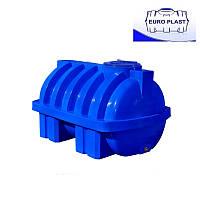Пластиковая емкость 500 л горизонтальная, двухслойная Euro Plast RGД 500 Р/ребро