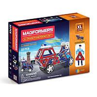 Магнитный конструктор Крейсеры XL, Спасатели, 33 элементов, серия Техника, Magformers
