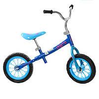 Беговел детский, два колеса 12д., голубой, колесо EVA, M3255-2