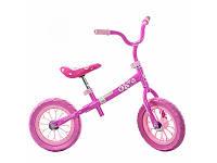 Беговел детский, два колеса 12д., розовый, колесо EVA, M3255-1