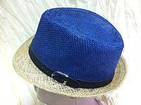 Детская двухцветная шляпа федора с ремешком