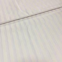 Бязь Люкс страйп белая с полосой 1 см, фото 1