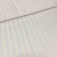 Бязь Люкс страйп белая с полосой 1 см