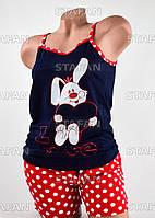 Женский комплект майка с шортами Турция. Night Angel 4745 L/XL. Размер 44-46.