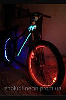Подсветка  велосипеда гибким неоном 5.0мм