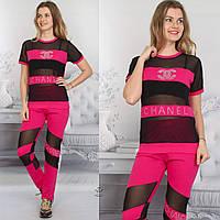 Женский Спортивный костюм или для Активного отдыха с сеткой в цветах S-XL