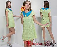 Женское стильное короткое кожаное платье