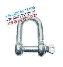 Скоба такелажная прямая 14 мм - шекля оцинкованная , фото 2