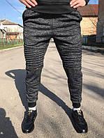 Мужские спортивные штаны, темно-серые (стильные)