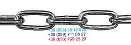 Цепь черная  длинное звено 6 мм х L 10 метров, фото 2