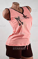 Женский комплект майка с шортами Турция. Night Angel 4685 S/M. Размер 42-44.