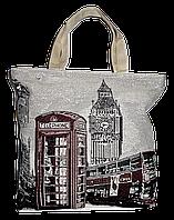 """Женская пляжная сумка из ткани """"Лондон"""" QQF-880001"""