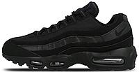 Мужские кроссовки Nike Air Max 95 All Black (Найк Аир Макс 95) черные