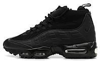 Мужские высокие кроссовки Nike Air Max 95 Sneakerboot (Найк Аир Макс) черные