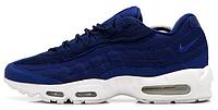 Мужские кроссовки Nike Air Max 95 x Stussy (Найк Аир Макс 95) синие