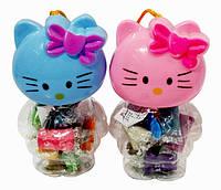 """Пластилиновая паста в пластиковой форме """"Котик"""", в наборе 10 цветов и 1 формочка"""