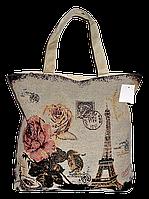 """Женская пляжная сумка из ткани """"Париж"""" QQF-880002"""