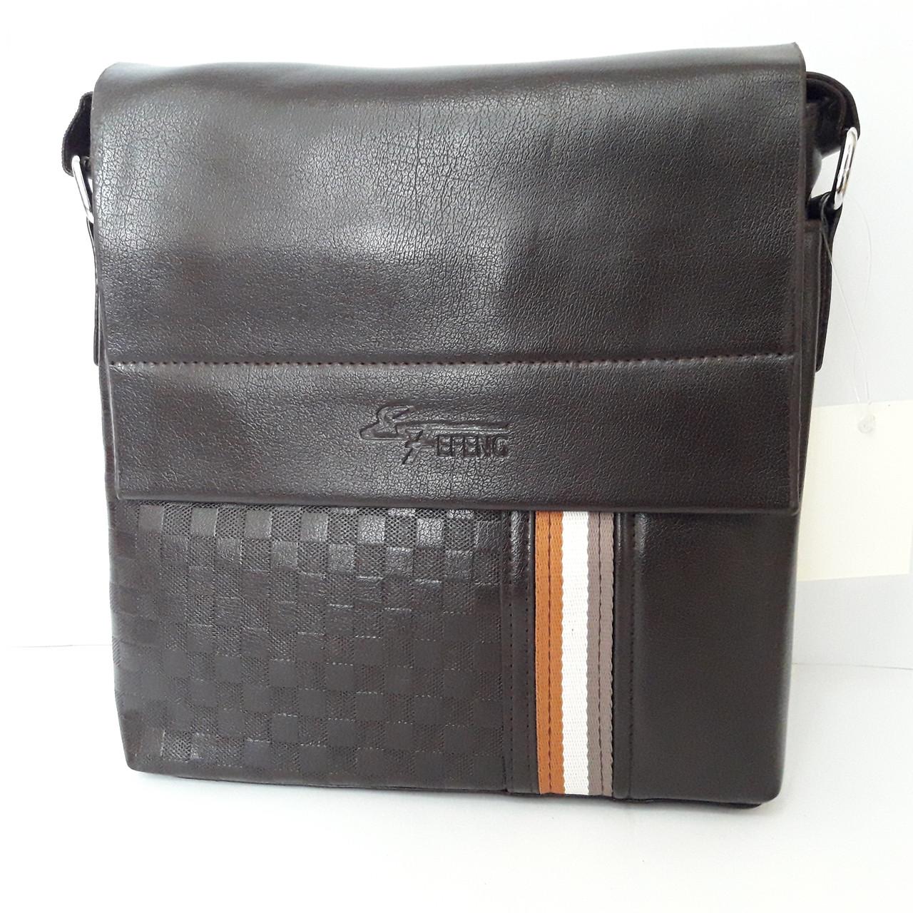 429881eda7f5 Стильная мужская сумка планшет 26х27х8 см барсетка эко кожа черная ...