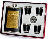 Мужской набор: фляга, лейка, стаканы Размеры:18-24-4 см