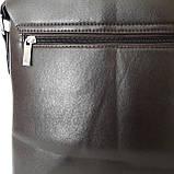 Стильная мужская сумка планшет 26х27х8 см барсетка эко кожа черная, фото 9
