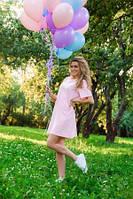 """Платье-футболка """"Миру-Мир"""" розовое pl.020.54"""