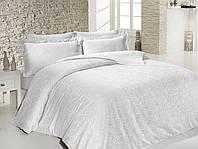 Постельное белье жаккард-сатин Sound Sleep Sarmasik white