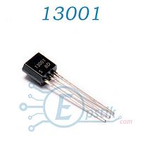 13001, Транзистор биполярный, NPN, 600В, 0,2А, TO-92