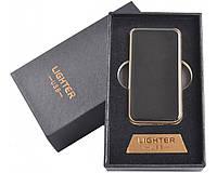 Спиральная USB зажигалка №4754 Black, подарочная упаковка, безотказная работа в любых погодных условиях