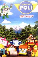 """Карты игральные детские 36 """"Robocar Poli"""""""