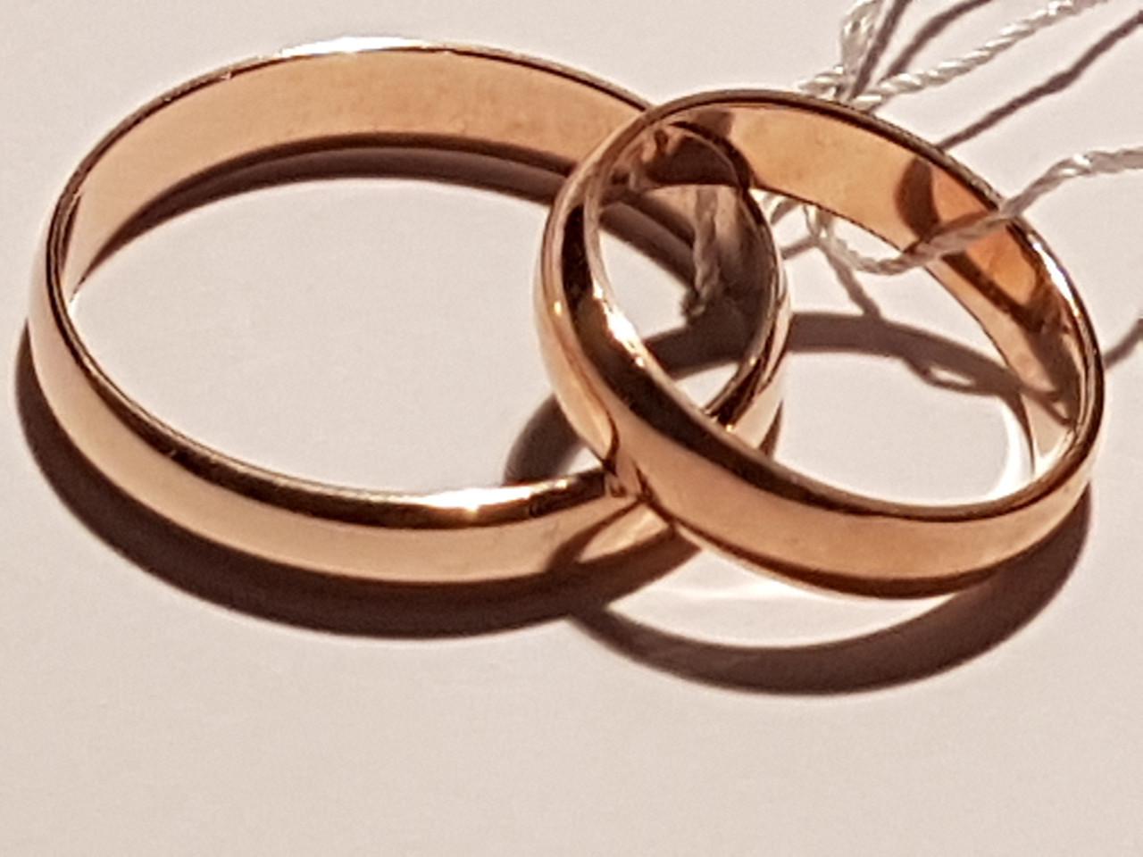 Обручальное золотое кольцо. Артикул ОК015.4