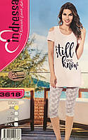 Турецкая хлопковая пижама капри и футболка для дома и отдыха