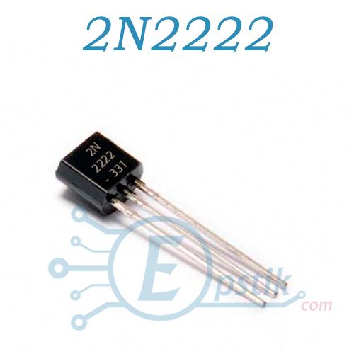 2N2222A, транзистор биполярный, NPN TO92