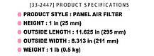 Воздушные фильтры нулевого сопротивления [33-2380] - KIA Forte / Cerato 2.0 (K&N), фото 3
