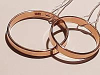 Обручальное золотое кольцо. Артикул ОК015.3евр 16