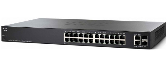Коммутатор Cisco SB SG220-26P 26-Port Gigabit PoE Smart Plus Switch (SG220-26P-K9-EU)