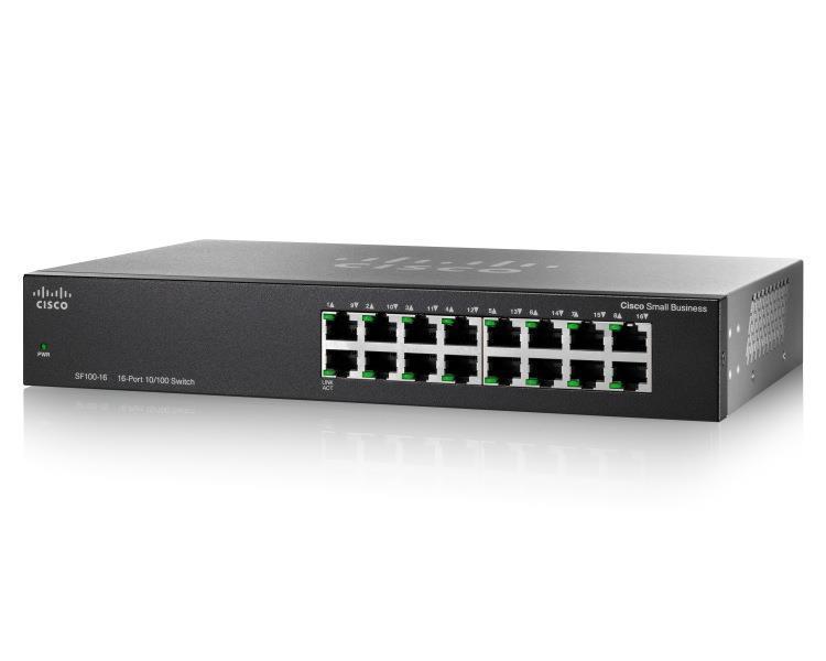 Коммутатор Cisco SB SF110-16 16-Port 10/100 Switch (SF110-16-EU)