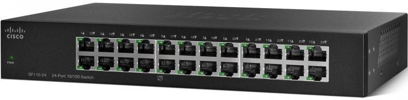 Коммутатор Cisco SB SF110-24 24-Port 10/100 Switch (SF110-24-EU)
